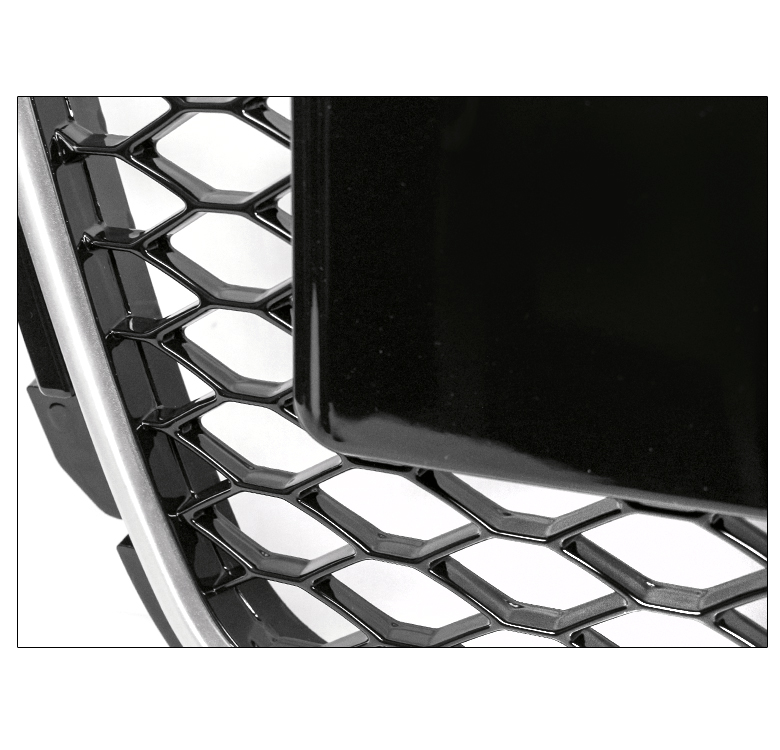 HONEYCOMB SPORT EURO RS4 HEX GRILLE BLACK/SILVER TRIM FOR