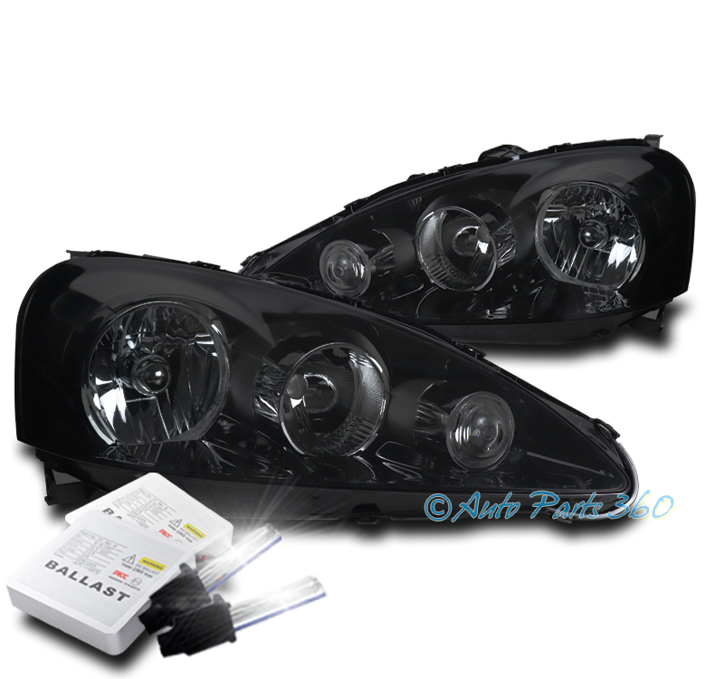 FOR 05-06 ACURA RSX DC5 CRYSTAL STYLE BLACK/SMOKE
