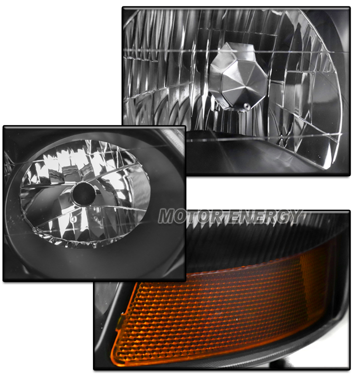FOR 02-03 ACURA TL (STOCK HID) BLACK HEADLIGHT LAMP W/LED