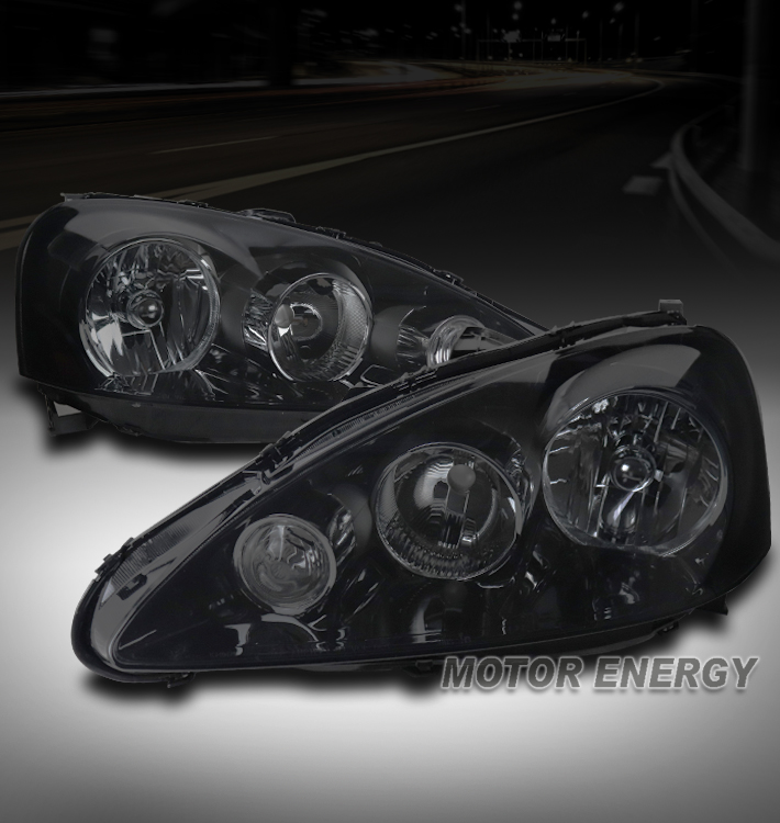 FOR 05-06 ACURA RSX DC5 BLACK/SMOKE REPLACEMENT HEADLIGHTS