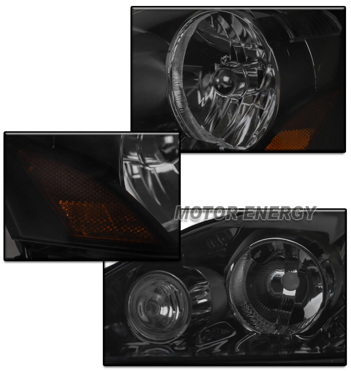 FOR 05-06 ACURA RSX DC5 BLACK/SMOKE HEADLIGHT LAMP W/DRL