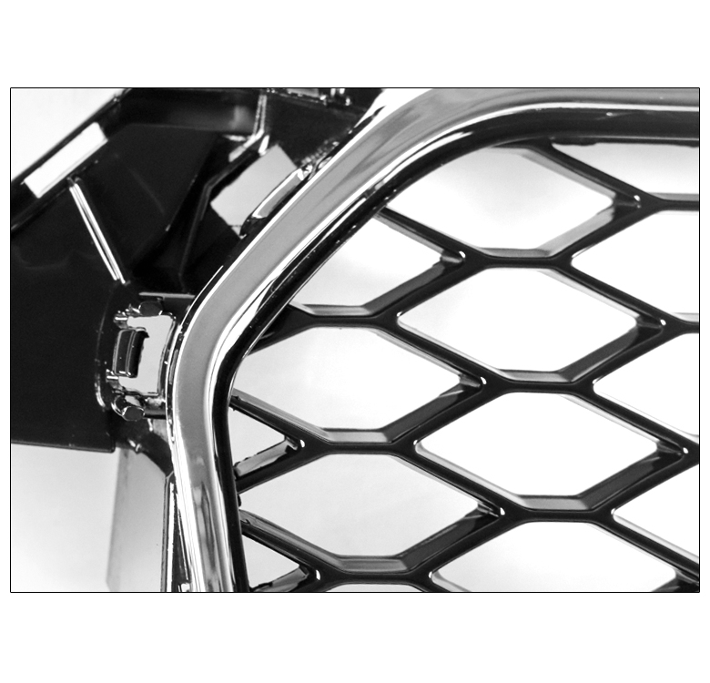 HONEYCOMB SPORT EURO RS4 HEX GRILLE BLACK/CHROME TRIM FOR