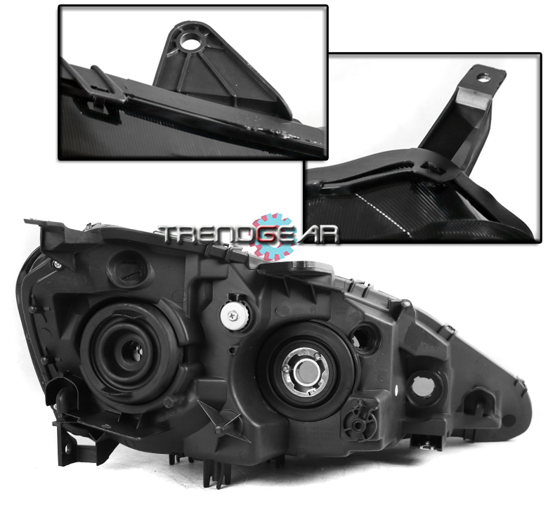 FOR 2005-2006 ACURA RSX DC5 BLACK/SMOKE LENS REPLACEMENT