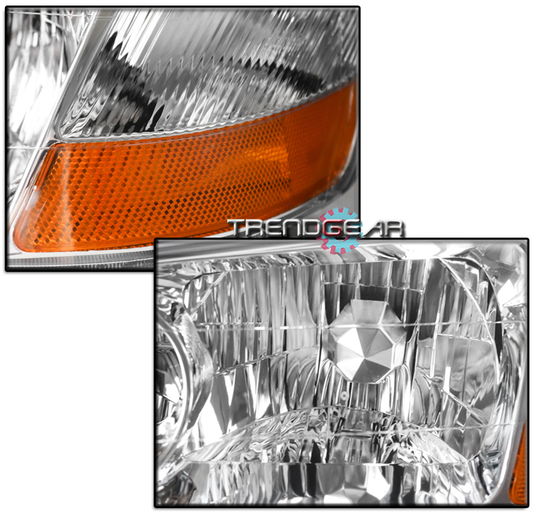 FOR 2002-2003 ACURA TL (HID TYPE) CHROME HEADLIGHTS