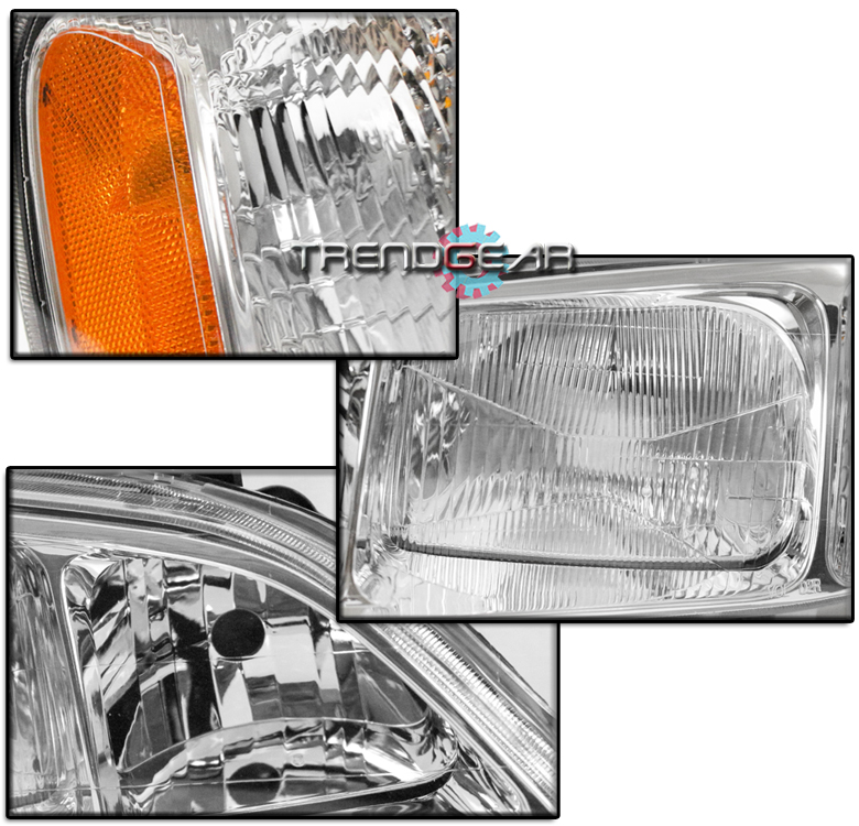 FOR 1999 2000 2001 ACURA TL REPLACEMENT CHROME HEADLIGHT